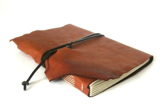 Large Leather Journal, Copper Brown Hand-Bound 5.75 x 8.75 Journal by The Orange Windmill on Etsy