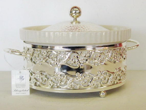 International Silver Casserole Dish, Made in England