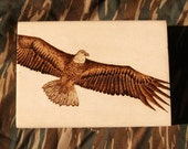 Bald Eagle Pyrography box with quote