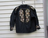 Vintage embroidered and beaded German Peasant blouse ala 1980s