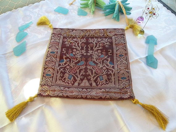 SALE--Hindu style small decorative pillow cover