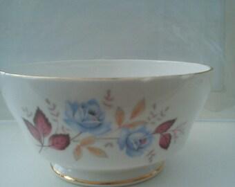 Vintage Royal Standard Sugar Bowl - Pretty blue roses