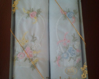 Vintage ladies handkerchiefs - 2 Boxed