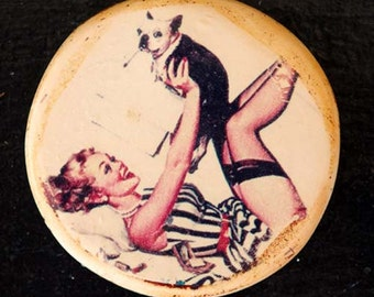 Victoria Pin-up Pendant by Heather Wynn Millican