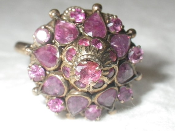 Vintage 10K Gold Ruby Harem Ring