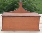 Primitive Wall Box in Pumpkin