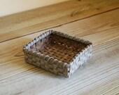 Mini Square Reed Basket in Slate