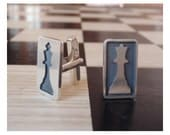 CheckMate Cuff Links Chess Cufflinks Mens Cuff links - Sterling Silver (925)