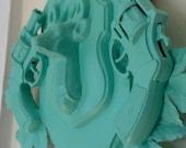 mint green faux taxidermy buckhead
