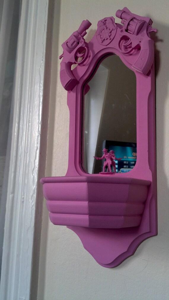 cowboy mirror with guns
