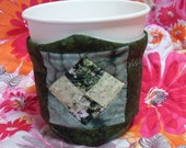 Coffee Cup Cozy-Forest Green Quilted Cup Cozy
