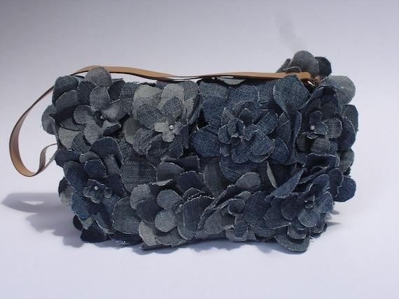 Eco friendly repurposed denim clutch bag, handmade/Impressive/stylish unique