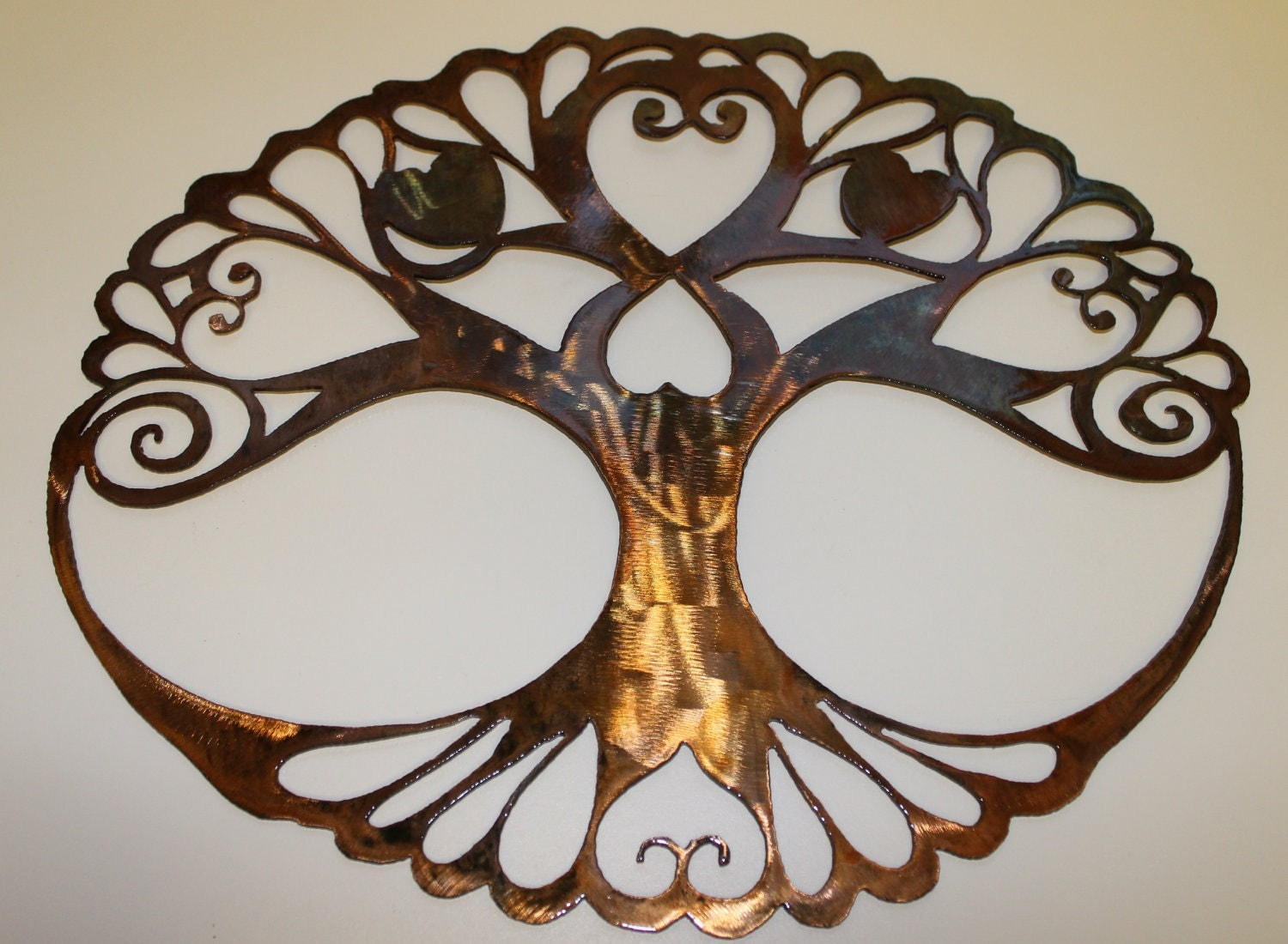 Wall Decoration Tree Painting: Oval Tree Of Life Metal Wall Art Decor By By