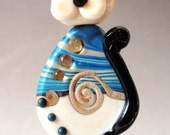 Calm Water Studio Lampwork Cat Bead Set   SRA
