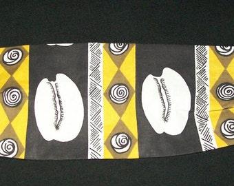 Cowrie Shell Print African Cotton Headband