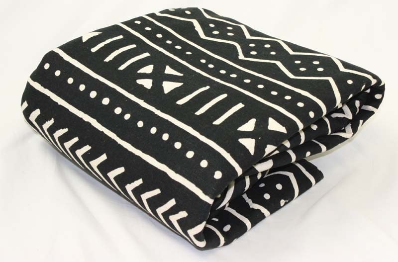 Black And White Traditional African Mud Print Fabric