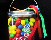 Personalized Clear Bucket Conainer for Teachers