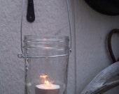 mason jar  lantern and 6 citronella tea light candles, 100% all natural soy tea lites outdoor rustic wedding lantern mood lighting