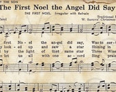 The First Noel Christmas Christian Sheet Music Hymn Hymnal Digital Download Image Vintage Clipart Scan Graphic vs0094