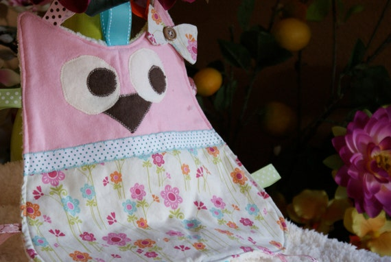 Owl Baby Lovey/Taggy: Summer Blooms