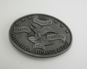 NRA 1986 Belt Buckle Defender of Firearms Freedom Institute for Legislative Action