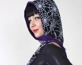 Spring SUPER SALE - Spider Web hooded scarf HALLOWEEN