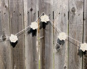 Wedding Flower Garland- Gardenia Sola Flower, Shabby Chic Wedding, Rustic Wedding, Beach Wedding