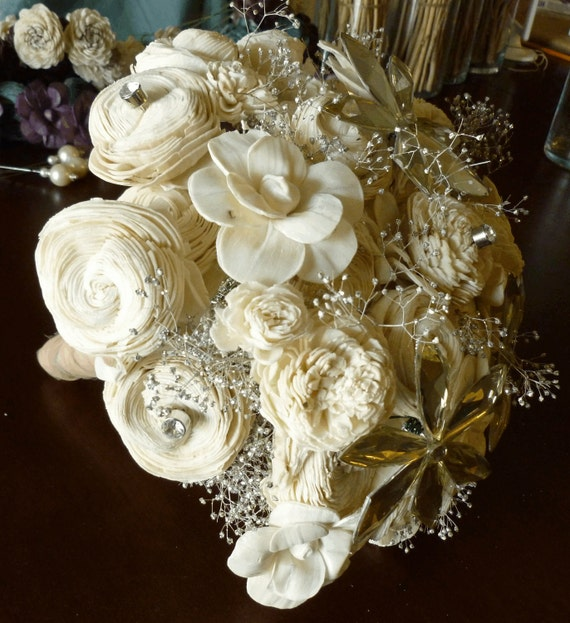 Custom Sola Flower Bouquet Deposit LARGE- Wedding, Bride, Bridesmaid