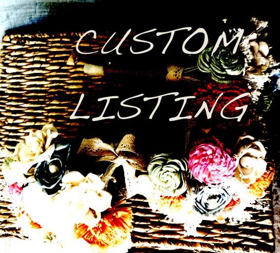 Custom order for Evelyn Edwards