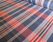Pink & Blue Check Fabric - 1m Length