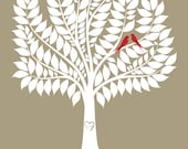 SIGNATURE WEDDING TREE. New Design. Guest book alternative. Love birds in the tree. 16x20 - 116 signatures. StudioLO2011