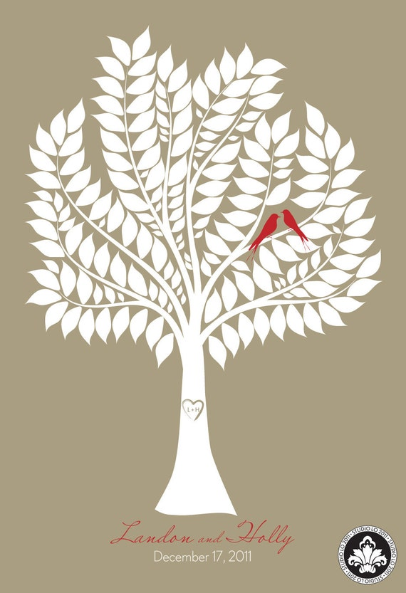 Items similar to SIGNATURE WEDDING TREE. New Design. Guest ...