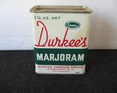 Vintage collectible Durkee's Marjoram Spice tin