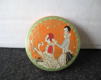 Vintage Richard Hudnut Three Flowers Face Powder Tin sample