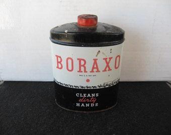 Vintage Boraxo Powdered Hand Soap Powder Tin 10 oz Sized