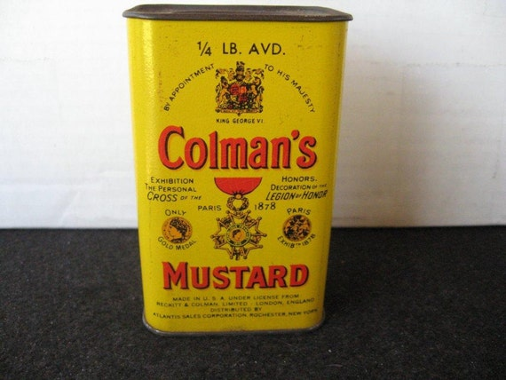 Old Vintage Colman's Mustard Tin