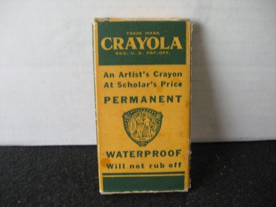Vintage1900's  Crayola Gold Medal No 6 School Crayons