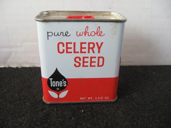 Vintage collectible Tone's  Celery Seed Spice Tin
