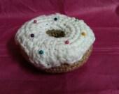 Crochet Donut Pincushion with ball point pins