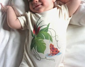 Organic Natural Baby Onesie ( FROG and WATER DROP )