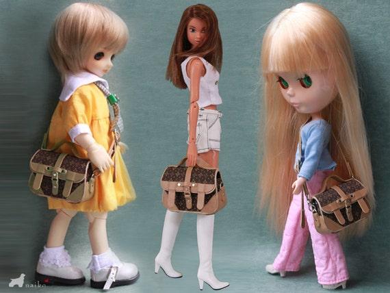 Naiko-handmade bag- This is a bag . for bjd yosd momoko misaki Barbie blythe and pullip