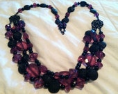 Chunky, Gothic Purple & Black Necklace - Custom Listing, Pick your color