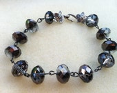 Hematite Bracelet with Black Nickel & Antique Silver Accents - Custom Made to Fit YOU