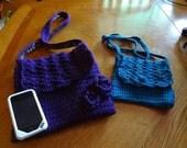Small Floral Detail Messenger Crochet Bags