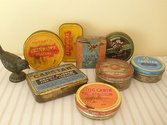 VINTAGE tobacco tin collection - set of 8