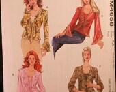 Fashion tops McCalls Pattern M4658 sizes 6 thru 12 multi views