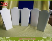 20 pieces lot Necklace display Jewelry Display stand white Neck easel 8.5 inch high faux leather