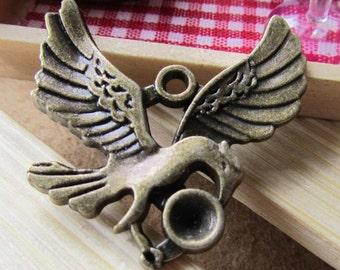 Bird Charms -15pcs Antique Bronze Flying Eagle Charm Pendant 29x30mm B228