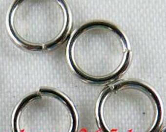 300pcs White K Plated Nickel Color Jumpring Jump rings 5mm - 20 gauge