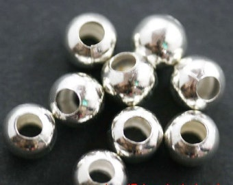 500pcs Silver Plated metal Base Round Spacer Beads 2mm Jewelry Findings B401-1